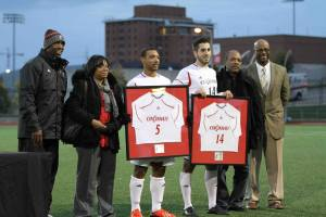 Petey Honored for Senior Day