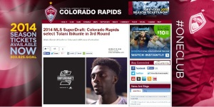Tolani gets drafted by Colorado Rapids